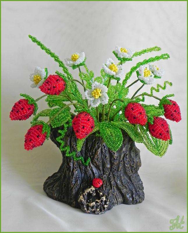 Поделки из бисера деревьев и цветов 246