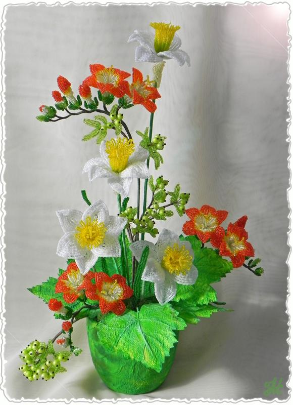 Работы из бисера: цветы и деревья.  25 авг 2011.  Все работы представленные в основном альбоме сделаны моими...